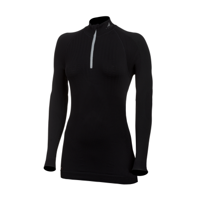 Powerful seamless thermo-shirt with long sleeves and a zipper col.00